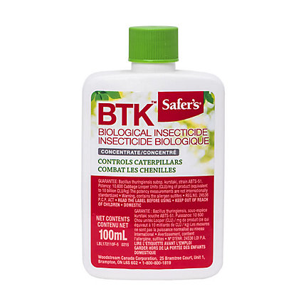 BIOLOGICAL INSECTICIDE CONC.(BTK) 100 ML 12/CS