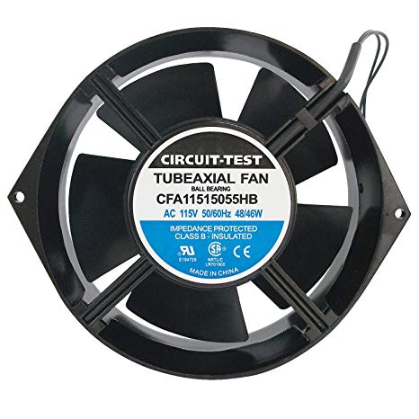 "AXIAL FAN 6"" BALL BEARING W/WIRE LEAD 120v"