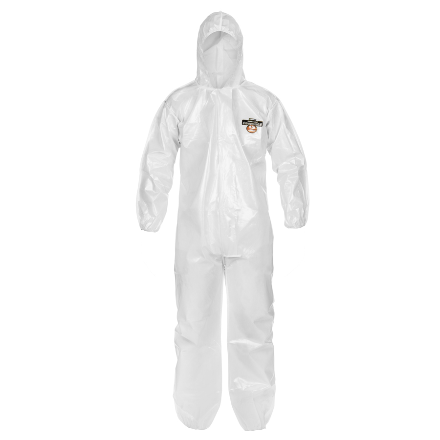 CHEMMAX2 COVERALL W/ HOOD 3XL SARANEX COATED (12/C